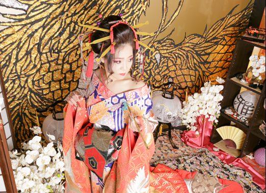 20歳の思い出に!花魁姿で成人式の前撮りができる京都のスタジオ